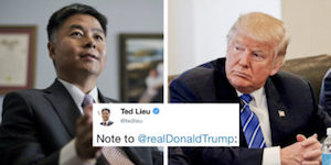 Ted Lieu and Trump